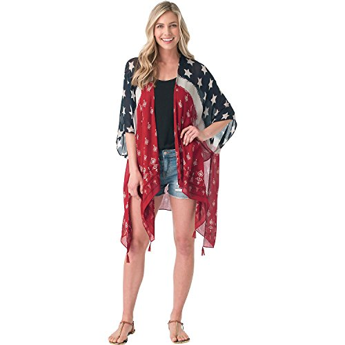 Legendary Whitetails Ladies Americana Cape Cover up