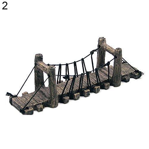 (Yamalans Fish Tank Synthetic Resin Bridge,Fake Aquarium Water Bridge Ornament Decor Straight Bridge One Size)