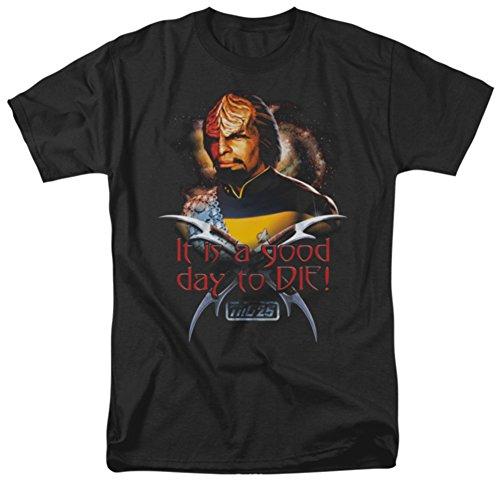 Star Trek TNG - Worf Good Day to Die TNG 25th Anniversary Men's T-Shirt