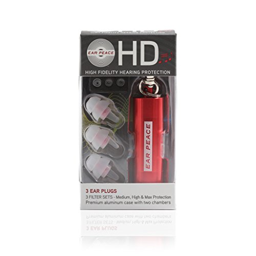 EarPeace HD Ear Plugs For Small Ear Canals and Kids - High Fidelity Concert...