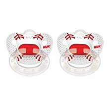 Nuk Sports Puller Pacifier in Assorted Colors and Styles, 0-6 Months