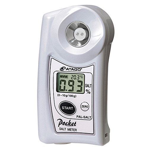 Atago PAL-Salt Cup Style Salinity Meter, 0 to 10% Salt Concentration