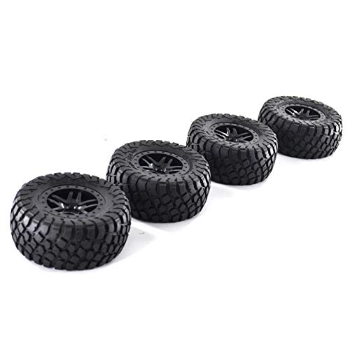 4PCS Short Course RC Truck Tires & Wheels - RCapture Ultra Soft 110mm 1/10 Tire for Traxxas HSP Tamiya HPI Kyosho RC Model Car Off-Road Truck Crawler Racing RC Car Model