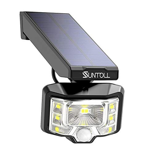 Solar Lights Outdoor, SUNTOLL 8 LED Wireless 360° Adjustable Solar Motion Sensor Spotlights with Wide Angle Lighting, IP65 Waterproof for Garden Patio Pathway Driveway