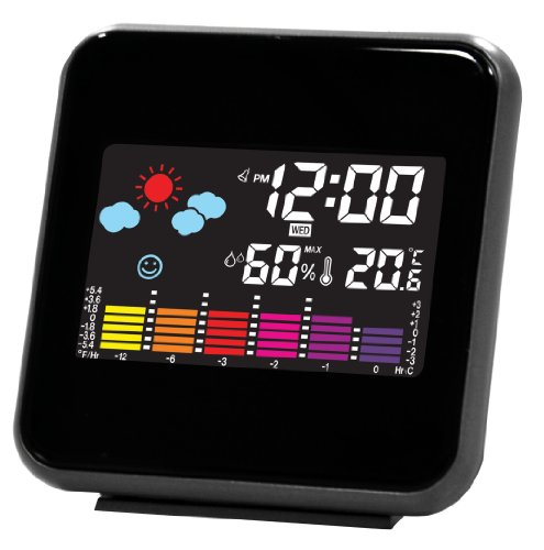 weather forecast clock digital display LED color temperature and humidity display, PSC-602
