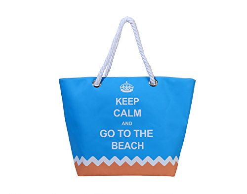 Sornean Oversized Waterproof Beach Tote Bag With Cotton Rope Handle
