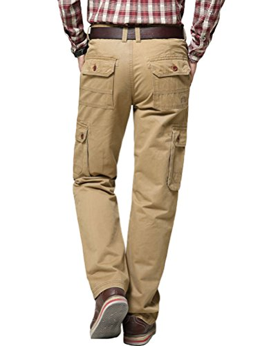 Casual Casual MatchLife elasticizzata cachi Pantaloni da da da vita uomo due Sport tasche con 4UfFxUw