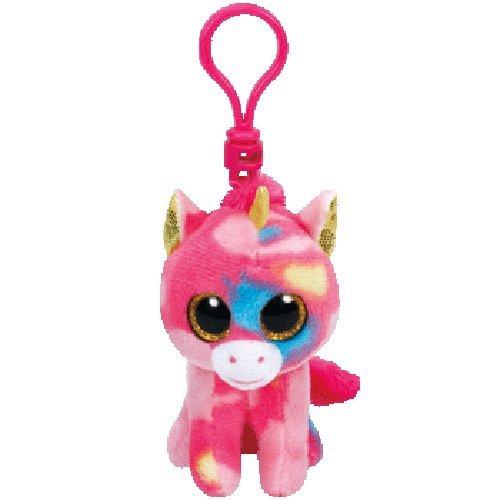 Ty Beanie Babies Fantasia Unicorn Clip Plush