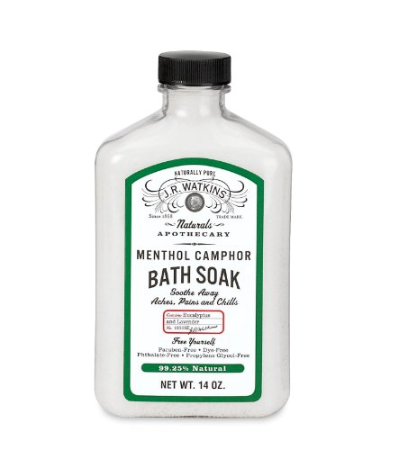 J.R. Watkins Natural Calming Bath Soak, Menthol Camphor, 14 Ounce
