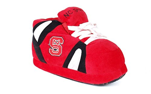 NCS01-3 - North Carolina State Wolf Pack - Large - Happy Feet Men's and Womens NCAA Slippers