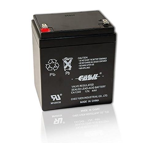 Amazon.com: Casil CA1240 - Batería de alarma SLA (12 V, 4 Ah ...