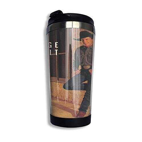 KGOISG George Strait Coffee Cup Stainless Steel Water Bottle Cup Travel Mug Coffee Tumbler with Spill Proof Lid - George Strait Coffee