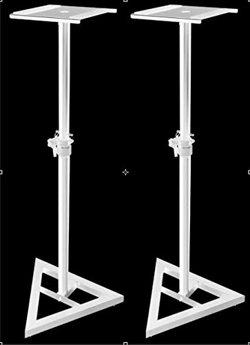 Little Fish Audio Studio Monitor Stands Pair (White) for KRK ROKIT YAMAHA Monitors by Little Fish Audio