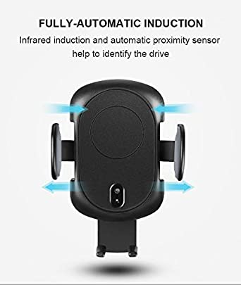 and 5W for All Qi-Enabled Phones Jasper Technology Qi Certified Fast Wireless Car Charger with Air Vent Phone Holder 7.5W Compatible iPhone XR//XS Max//XS//X//8//8 Plus 10W for Galaxy S9//S9+//S8//S8+//LG G7