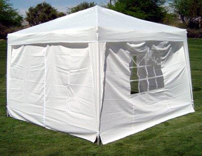 Amazon.com Palm Springs 10 x 10 WHITE EZ Pop Up Canopy w/Walls Sports u0026 Outdoors & Amazon.com: Palm Springs 10 x 10 WHITE EZ Pop Up Canopy w/Walls ...
