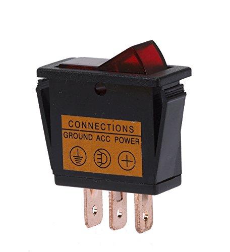 HP-Autozubehör Interrupteur à bascule lumineux rouge Sausewind 28327