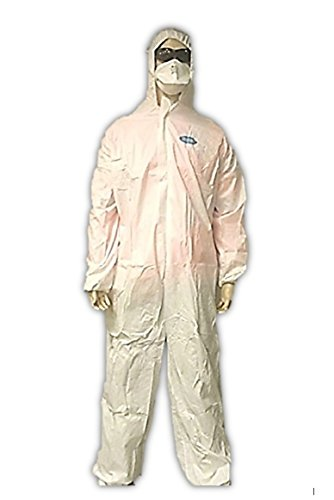 Microporous Disposable Coveralls Film -  Major Gloves TUFF-GARD Disposable Microporous Protective Coveralls with Hood and ankles, Medium