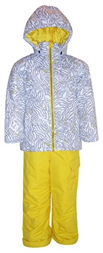 2 Piece Snowsuit Set (Pulse Little Girls' and toddler 2 Piece Snowsuit Set Fierce (Large (7), White/Yellow))
