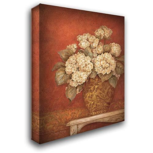 Gladding Villa - Villa Flora Hydrangeas 20x24 Gallery Wrapped Stretched Canvas Art by Gladding, Pamela