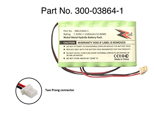 ZZcell Battery For Honeywell Alarm Lynx L3000, Lynx L5000, Lynx L5100, 300-03864-1 1500mAh (NOTE: Battery Connector - 2 Prong)