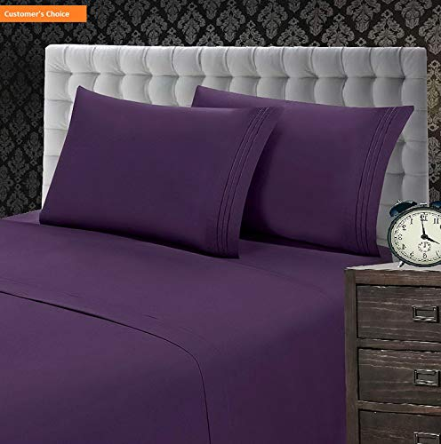 - Mikash New Soft 1500 Thread Count Luxury Egyptian Quality Wrinkle and Fade Resistant 4-Piece Sheet Set, King, Purple | Style 84599311