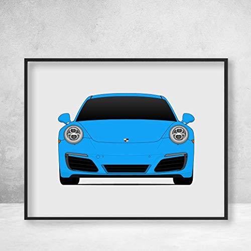 (Porsche 911 Carrera S (991.2) (2016-2020) Poster Print Wall Art Decor Handmade (4S Targa))