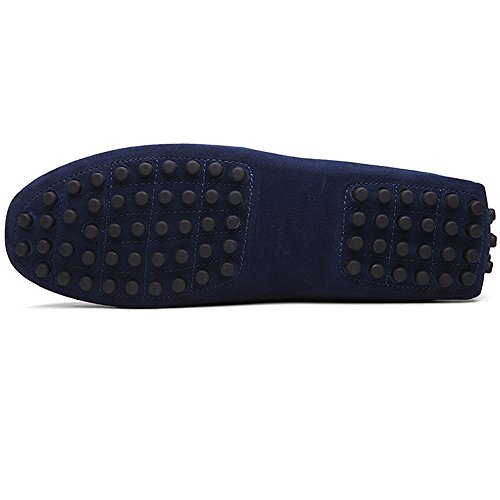Moccasin Loafers Driving US10 Minimalism Slippers rismart Soft Mens Shoes Navy Suede 2088 nwqPtxB0Sx
