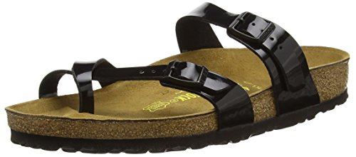 Birkenstock Women's Mayari Sandal,Black Patent,37 EU/6-6.5 N US (Sandal Patent Leather Shoes)