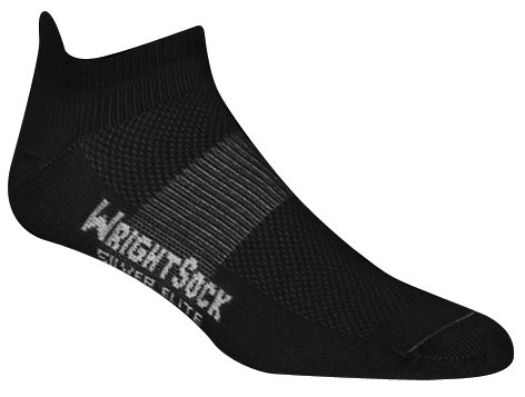 WrightSock Silver Stride Tab Sock - Black Large