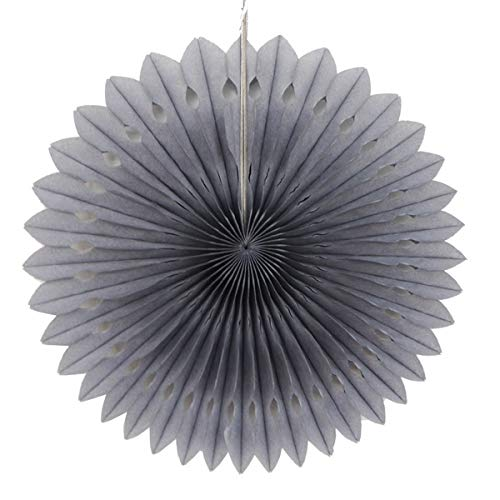 5Pcs 20cm Paper Flower Decorations for Wall Paper Flower and Tissue Paper Puff Garland Paper Flower for Birthday Gift Decor Paper Flower for Baby Shower Tissue Paper Pinwheels Hanging (Gray)