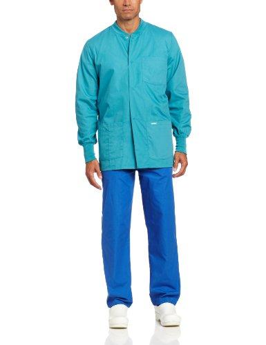 Landau Men's Big and Tall Premium 4-Pocket Classic Fit Warm-Up Medical Scrub Jacket, Teal, 3X-Large ()