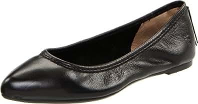 FRYE Women's Regina Ballet Flat, Black Soft Vintage Leather, 5.5 M US