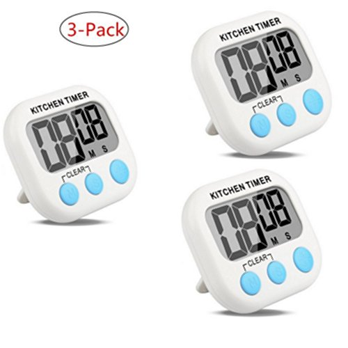 3-Pack Countdown Timer Kitchen Timer Cooking Timer Digital Timer Clock Timer with Large Screen for - Review Uk Watch Shop