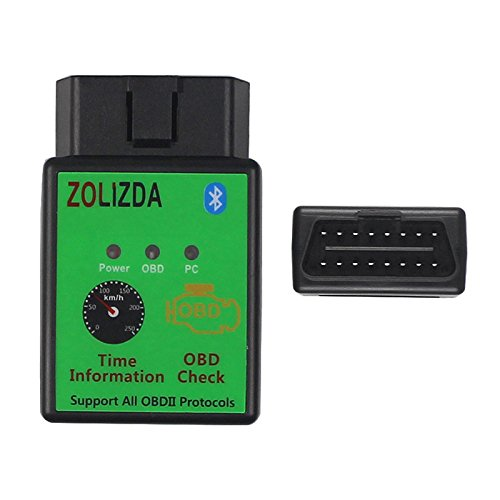 ZOLIZDA Code Readers V1.5 OBD2 Scan Tools Read Code Clear Code Vehicle Information Data Stream Readiness Test for Bluetooth Module 2.0 Android