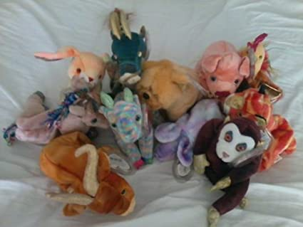 Ty Beanie Baby Zodiac Complete Set Of 12 Animals As Pictured