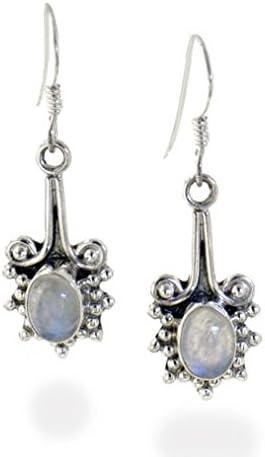 Handmade Dangle Earrings Moonstone Earrings Sterling Silver Earrings Earrings |