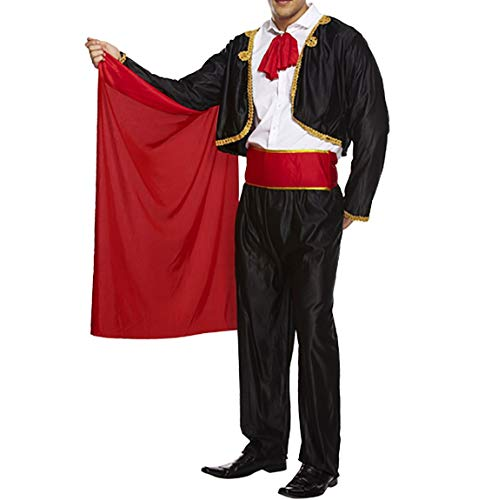 Rimi Hanger Adult Mens Matador Costume for Spanish Bull Fighter Fancy Dress Book Week Outfit One Size