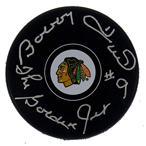 - Bobby Hull Autographed Signed Chicago Blackhawks NHL Puck - The Golden Jet Inscription - Certified Authentic