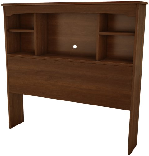 South Shore Willow Collection Bookcase Headboard 39-Inch, Sumptous Cherry