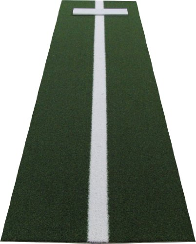 PM3660GREEN 3' x 5' XL Green Nylon Softball Pitchers Pitching Mound With 5mm Foam Power Line (Home Mound Pitchers Plate)