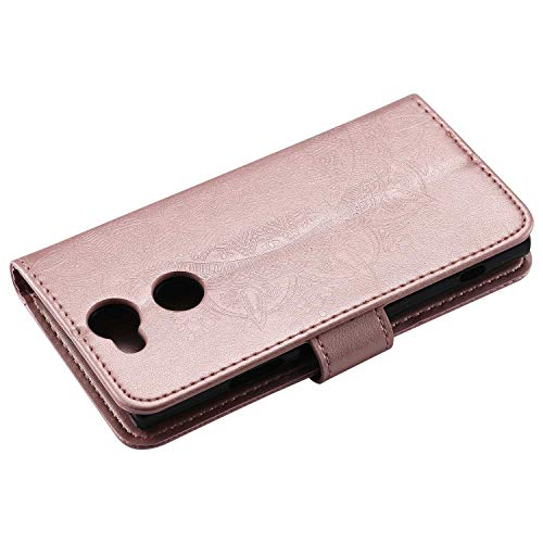 Flip Notebook Cover for Sony Xperia XA2 Ultra Rose Gold Card Slots The Grafu Leather Case Kickstand Function Sony Xperia XA2 Ultra Case Premium Wallet Case with