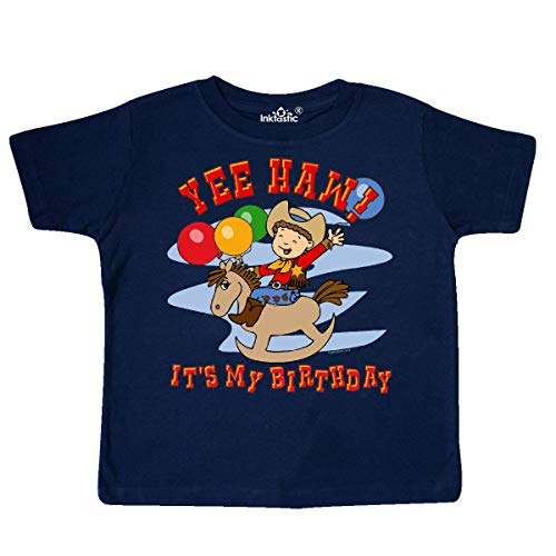 inktastic Yee Haw Birthday Toddler T-Shirt 5/6 Navy Blue