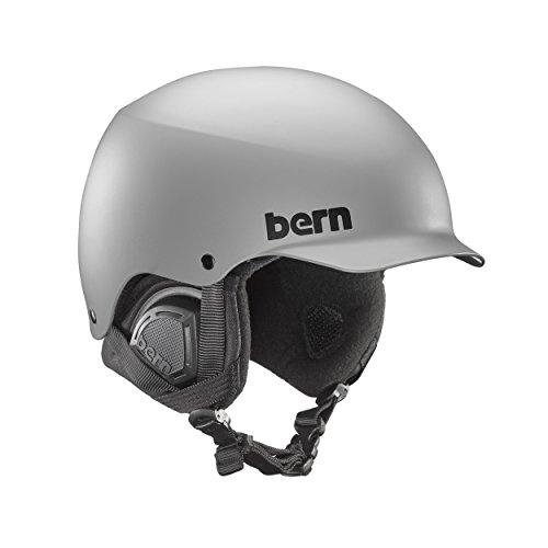 Bern Baker Audio (Bern Baker Snow Helmet (Matte Grey with Black Liner, Medium))