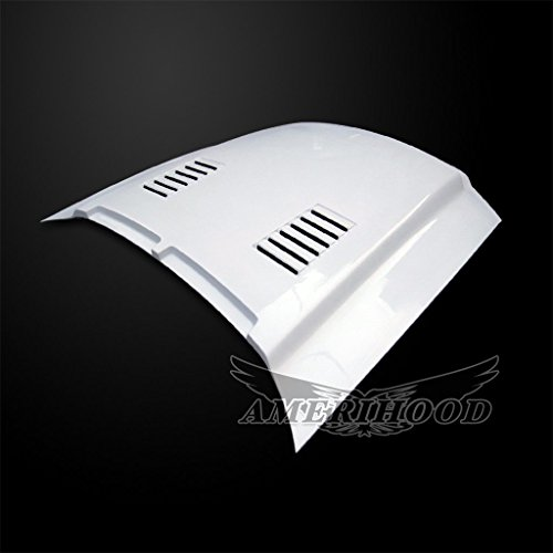 (AmeriHood FM13AHSSEFHW Ford Mustang 2013-2014 Type-SS Style Functional Heat Extraction Ram Air Hood)