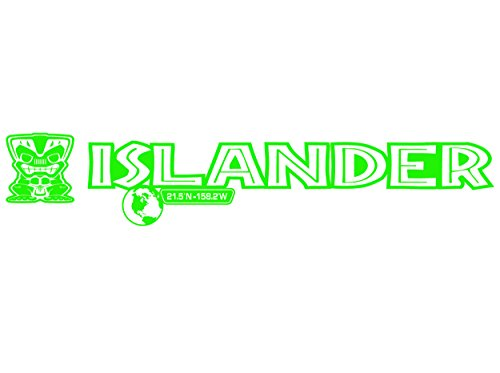 2 x Lime Green Islander Edition Hood Decal Beach Club Tiki Man Vinyl Graphic Fits Jeep - Edition Graphics Green