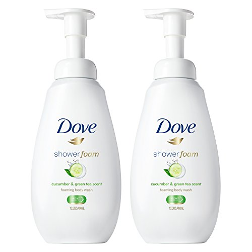 Dove Shower Foam Cucumber & Green Tea Scent 13.5 oz, 2 count