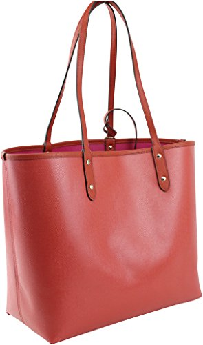 Signature Reversible PVC F36609 City Tote Coach Red waR6Ox