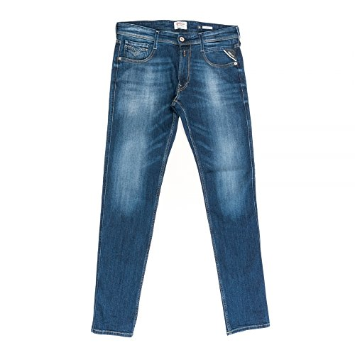 Replay Blue Anbass Stretch Slim Fit Jean/Denim Pants - M914.000.573.240 34/32