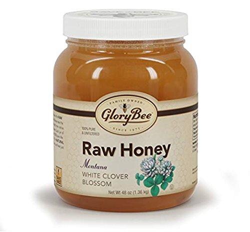 (GloryBee Raw Montana White Clover Honey, 48 Ounce)