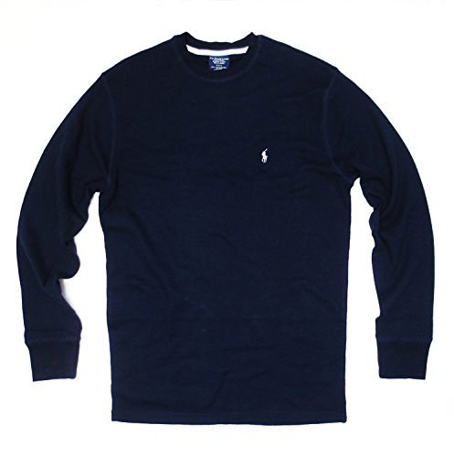 Polo Ralph Lauren Men's Long-sleeved T-shirt/Sleepwear/Thermal (Large, Cruise Navy/White Pony) from Polo Ralph Lauren
